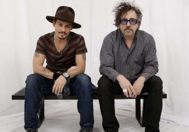Actor Johnny Depp, left, and director Tim Burton pose for a photograph in West Hollywood, Calif., Wednesday, Dec. 5, 2007.(AP Photo/Kevork Djansezian)